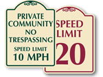 Signature Speed Limit Signs