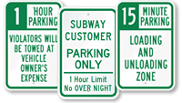 Time Limit Parking Signs