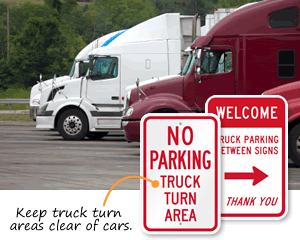 Truck Parking Signs