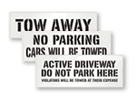 Tow Away Stencils