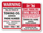 Tow Company Signs