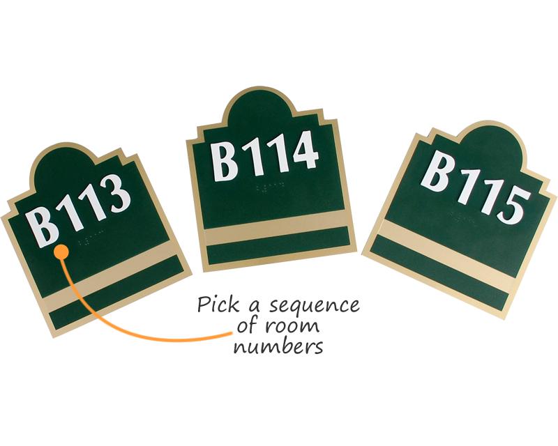 Custom Room Number Signs