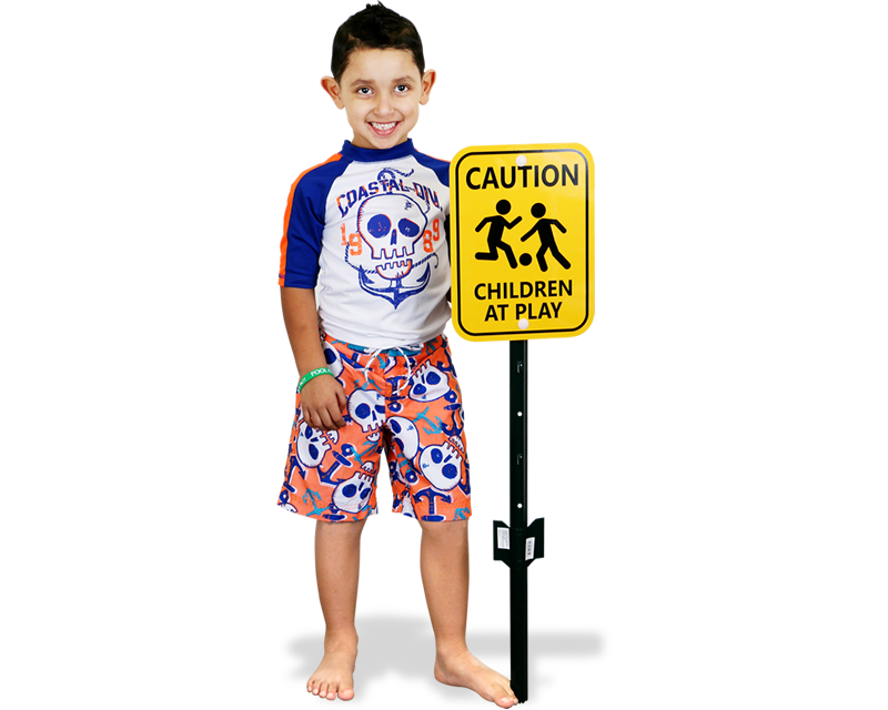 Caution Children at Play Stake Sign