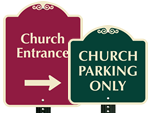 Church Parking Signs