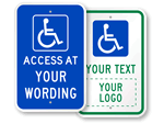Custom Accessible Signs