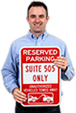 Custom Reserved Parking Signs
