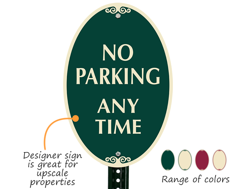 Designer parking sign