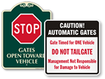 Automatic Gate Signature Signs