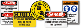 Eye and Ear Protection Signs