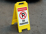 Fold-Up Parking Signs