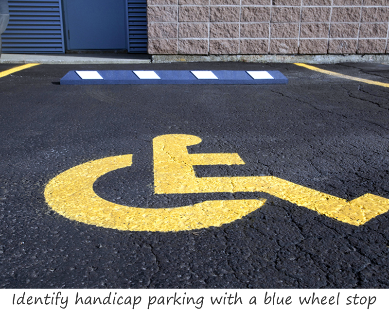 Handicap parking wheel stop