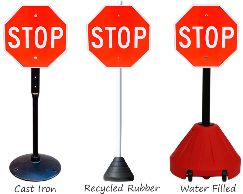 Sign bases for parking lots