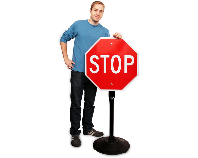 Stop sign and stand kit