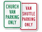 Van Parking Signs