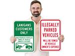 Violators will be Towed Signs