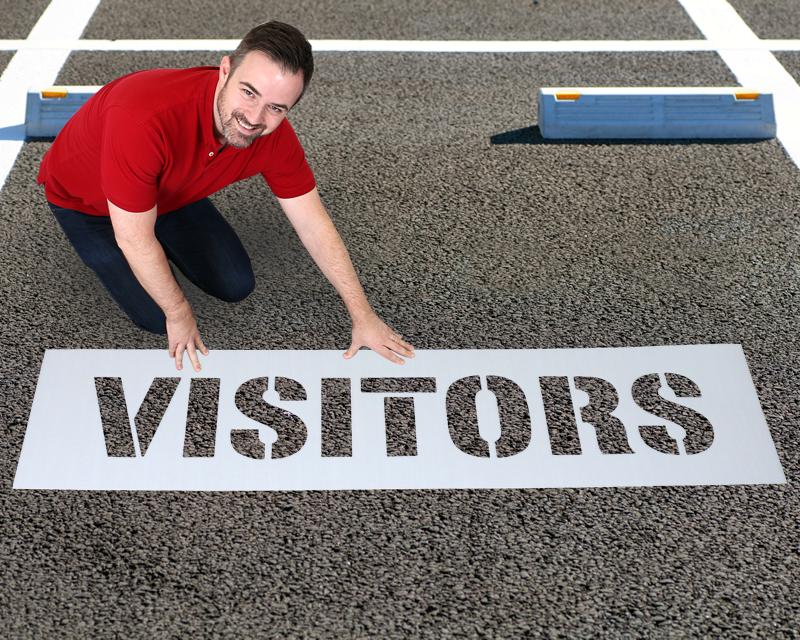 Visitor Parking Stencils