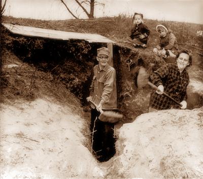 Digging a tornado shelter