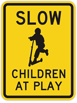 Child-at-Play and Safe Speed Sign from SmartSign.com