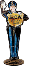 School Zone Sign from 50's