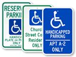 Custom ADA Parking Signs