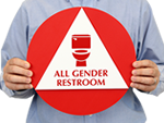 California Gender Neutral Restroom Door and Wall Sign Kits