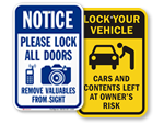 Anti-Theft Signs