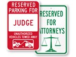 Attorney Parking Signs