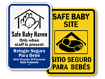 Baby Safe Haven Signs