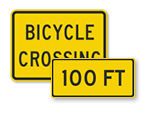Bicycle Crossing Signs
