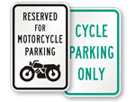 Bike & Motorcycle Parking Signs