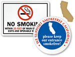 California No Smoking Signs