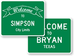 Custom City Signs