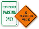 Contractor Parking Signs