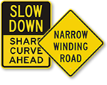 Curvy Road Signs