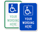 Custom ADA Handicap Signs