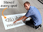 Custom Parking Lot Stencils