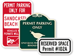 Custom Parking Permit Signs