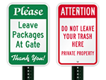Custom Please Signs