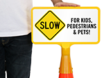 Custom Slow Down Cone Signs