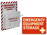Emergency Supply Storage Signs