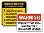 Evacuation Procedure Signs