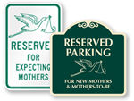 Expecting and New Mother Parking Signs