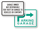 Garage Parking Signs