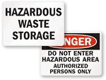 Hazardous Area Signs