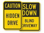 Hidden Driveway Signs