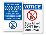 Humorous Cell Phone Signs