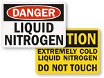 Liquid Nitrogen Signs