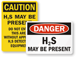 Hydrogen Sulfide Signs