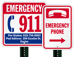In Case of Emergency, Dial 911 Signs