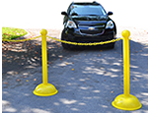 Moveable Stanchions to Reserve Spots